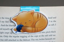 Sleeping Kitten Bookmark